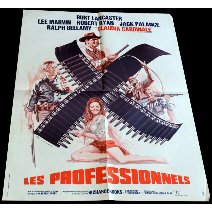 THE PROFESSIONALS French Movie Poster 23x32 - 1966 - Richard Brooks, Burt Lancaster