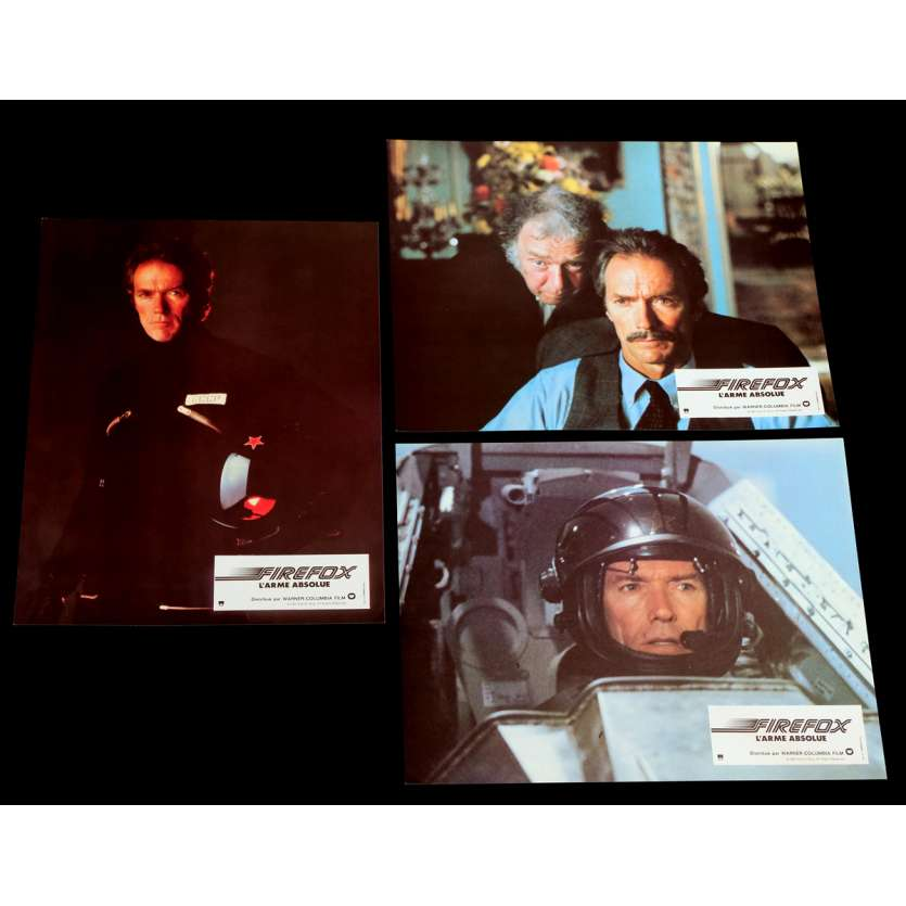 FIREFOX French Lobby Cards x3 9x12 - 1982 - Clint Eastwood, Clint Eastwood