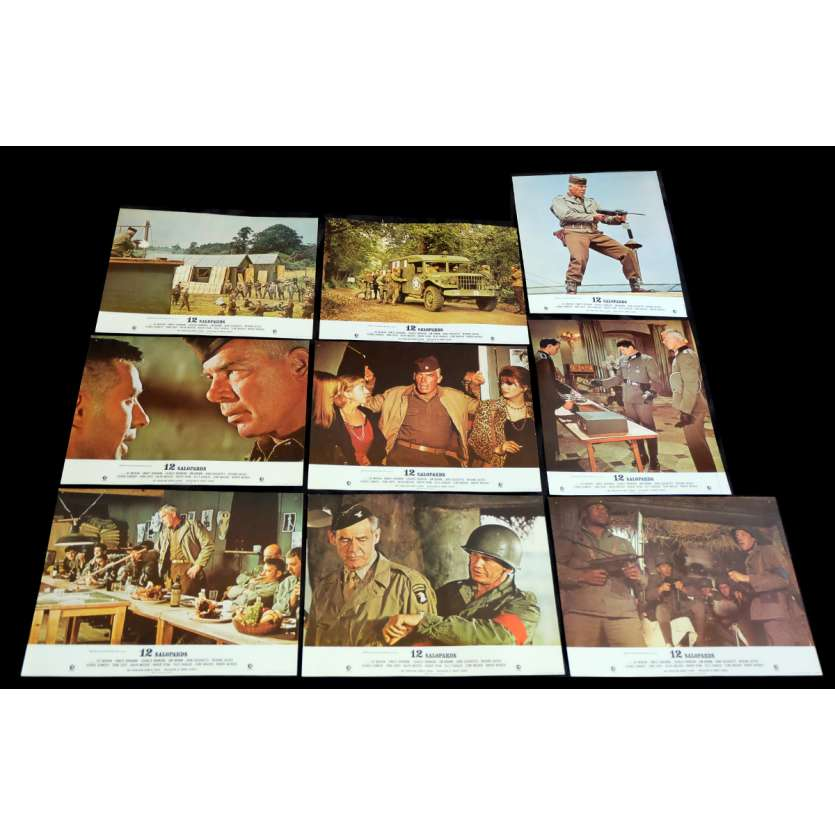 12 SALOPARDS Photos de film x6 21x30 - 1967 - Lee Marvin, Robert Aldrich