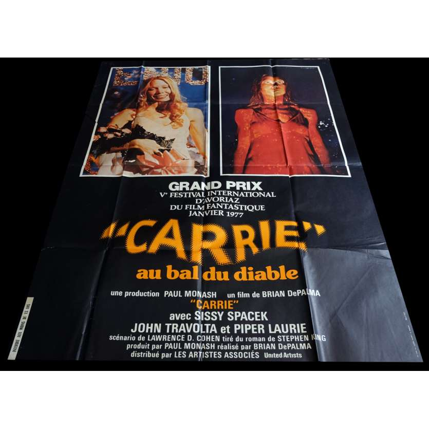 CARRIE Affiche de film 120x160 - 1976 - Sissy Spacek, Brian de Palma
