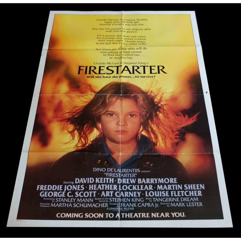 FIRESTARTER US Movie Poster 29x41 - 1984 - Mark L. Lester, Drew Barrymore