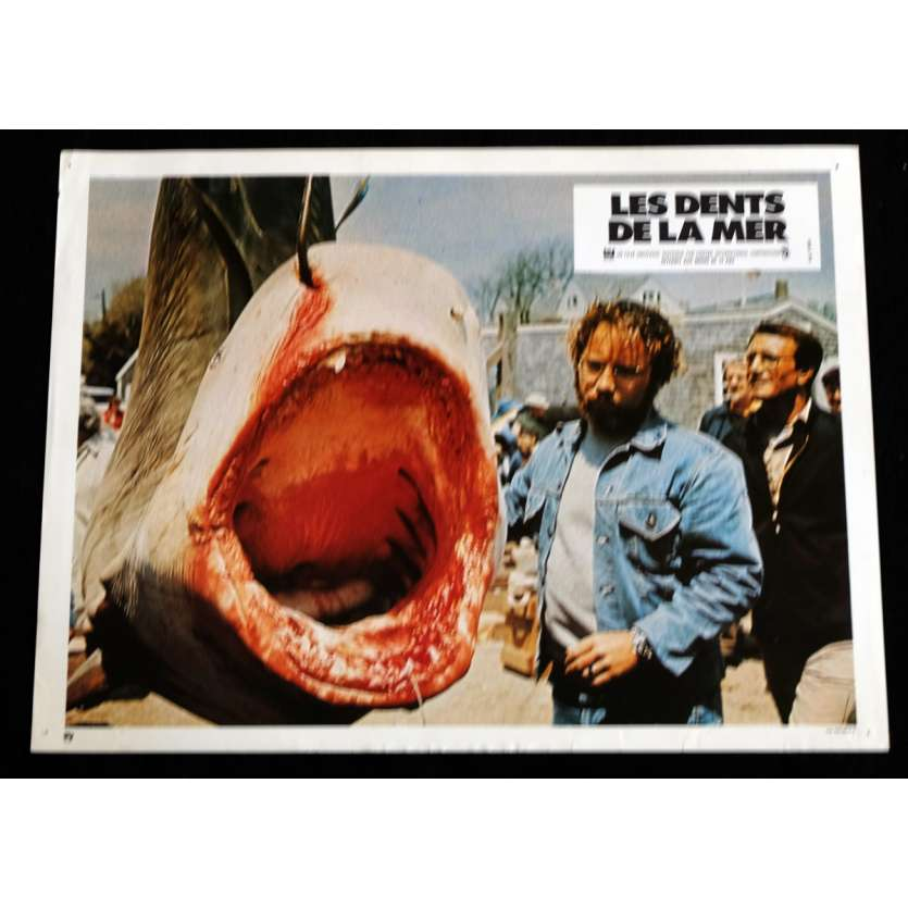 JAWS French Lobby Card 3 9x12 - 1975 - Steven Spielberg, Roy Sheider