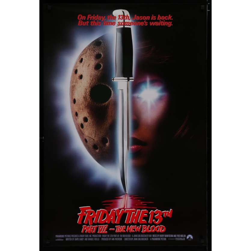 FRIDAY THE 13th PART VII US Movie Poster 29x41 - 1988 - John Carl Buechler, Jennifer Banko