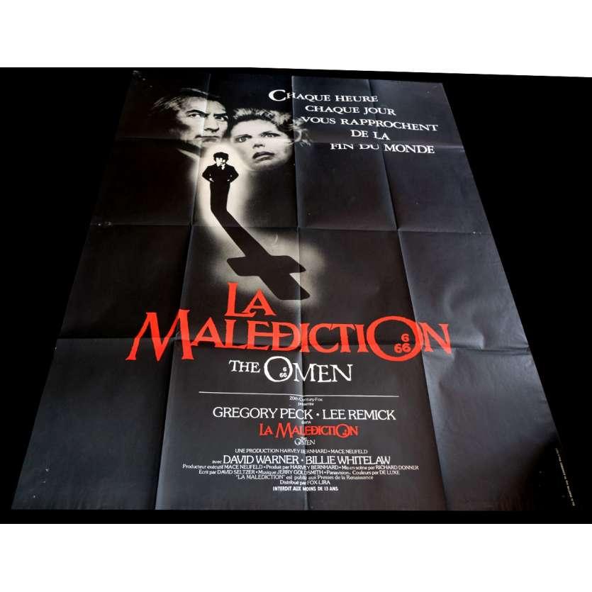 LA MALEDICTION Affiche de film 120x160 - 1979 - Gregory Peck, Richard Donner