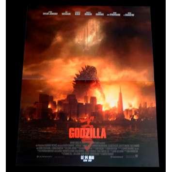 GODZILLA Affiche de film 40x60 - 2014 - Bryan Cranston, Gareth Edwards