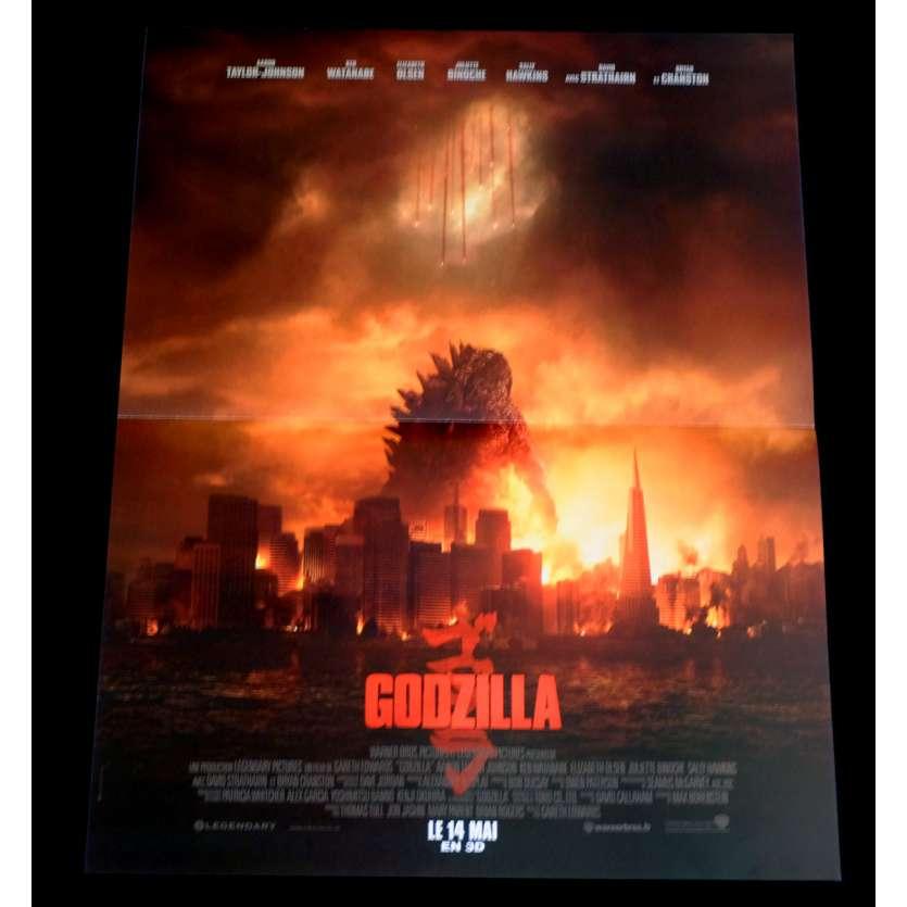 GODZILLA French Movie Poster 15x21 - 2014 - Gareth Edwards, Bryan Cranston