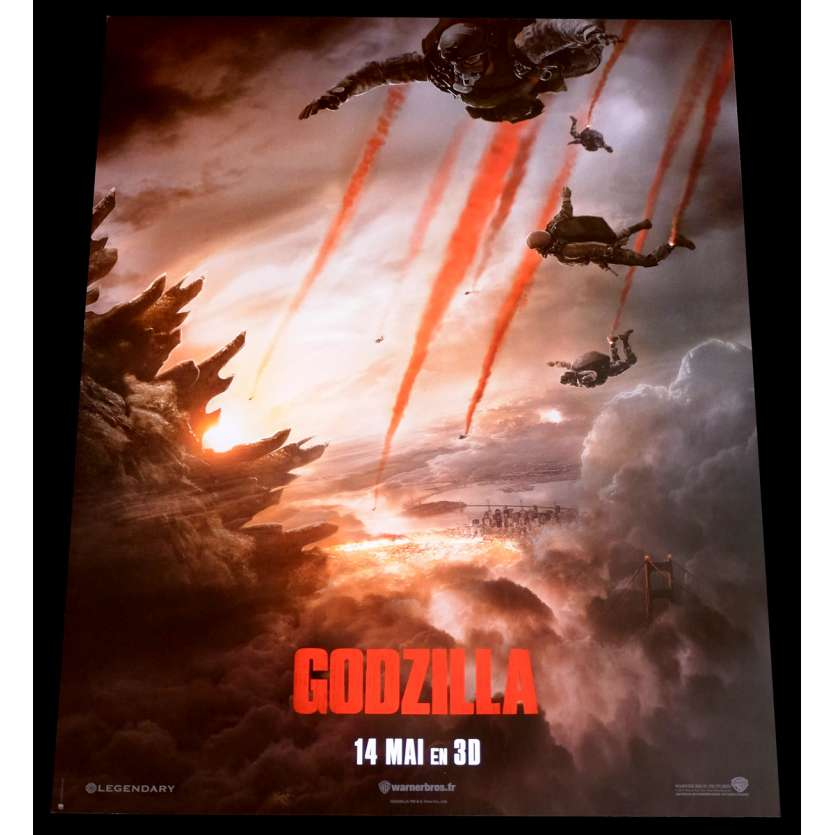 GODZILLA Advance French Movie Poster 15x21 - 2014 - Gareth Edwards, Bryan Cranston