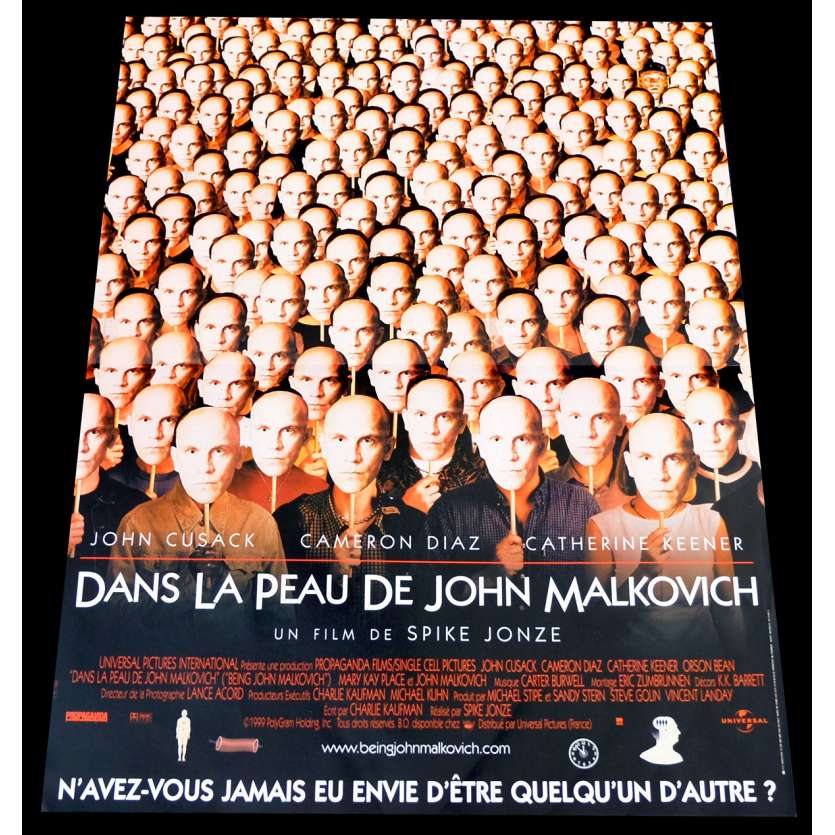 DANS LA PEAU DE JOHN MALKOVITCH Affiche de film 40x60 - 1999 - John Cusack, Spike Jonze