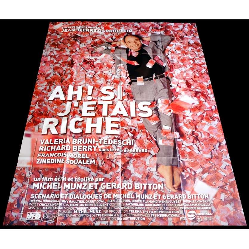 AH SI J'ETAIS RICHE Affiche de film 120x160 - 2002 - Jean-Pierre Darroussin, Michel Munz