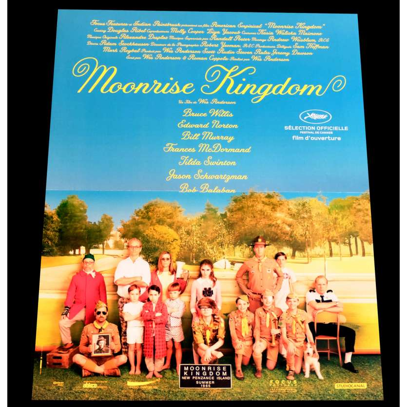 MOONRISE KINGDOM Affiche de film 40x60 - 2014 - Bill Murray, Wes Anderson