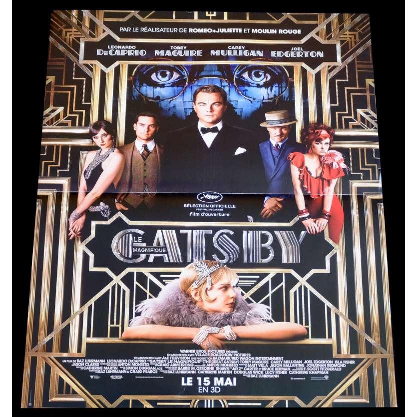 GATSBY Affiche de film 40x60 - 2013 - Leonardo Dicaprio, Baz Luhrmann