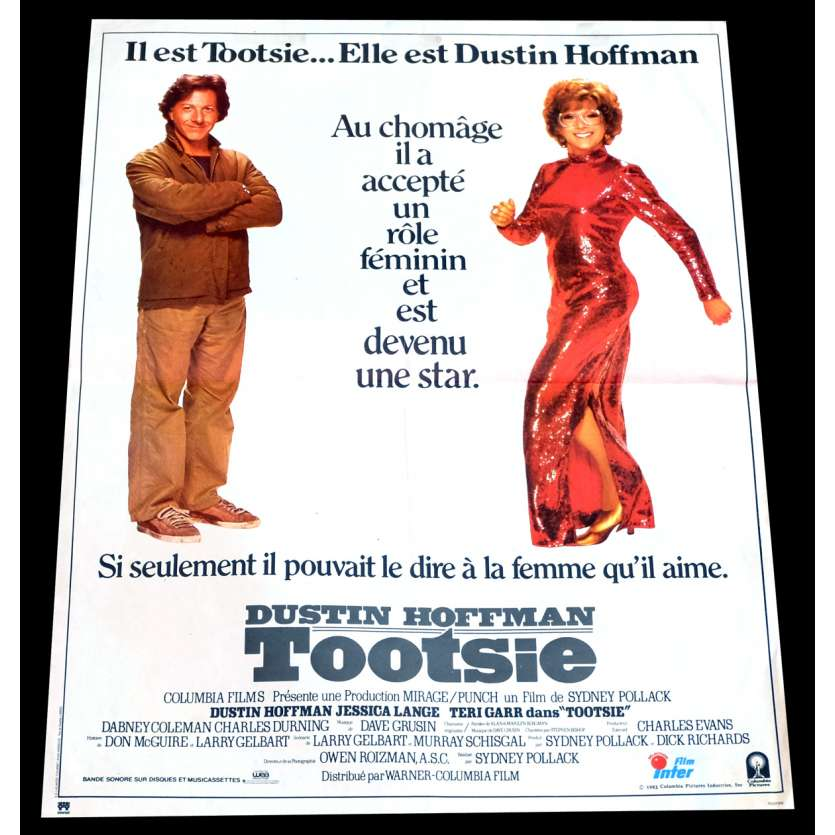 TOOTSIE French Movie Poster 15x21 - 1982 - Sidney Pollack, Dustin Hoffman