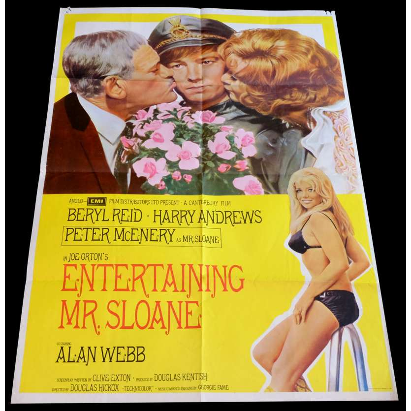 ENTERTAINING MR SLOANE US Movie Poster 29x41 - 1970 - Douglas Hickox, Alan Webb