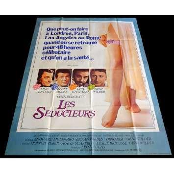 LES SEDUCTEURS Affiche de film 120x160 - 1980 - Lino ventura, Edouard Molinaro