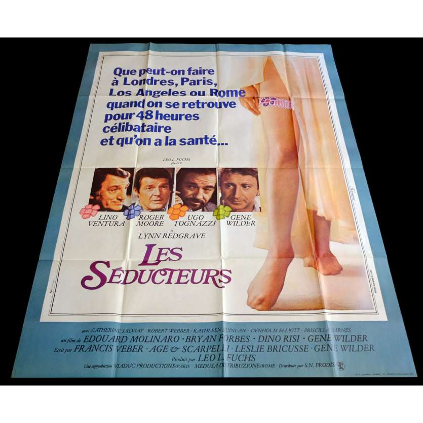 Sunday LOVERS French Movie Poster 47x63 - 1980 - Edouard Molinaro, Lino ventura