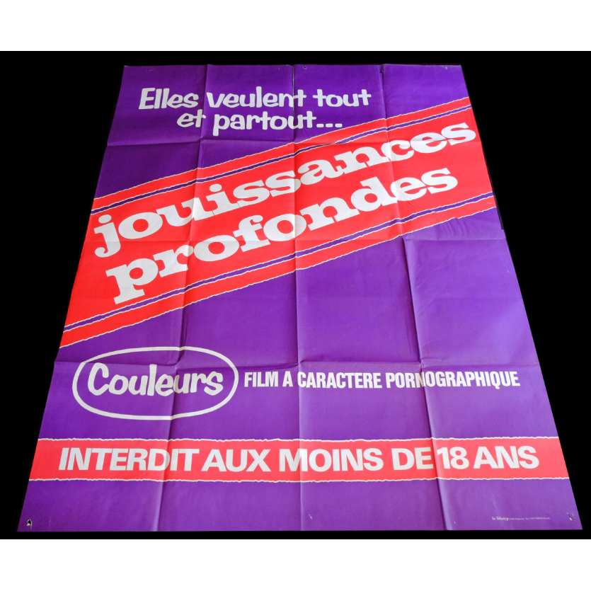 JOUISSANCES PROFONDES French Movie Poster 47x63 - 1979 - Michel Caputo, Karine Gambler