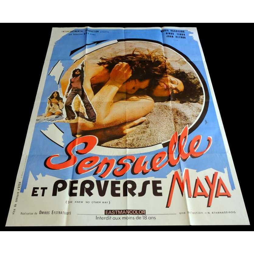 SENSUELLE ET PERVERSE MAYA Affiche de film 120x160 - 1973 - Maria Vassiliou, Omiros Efstratiadis