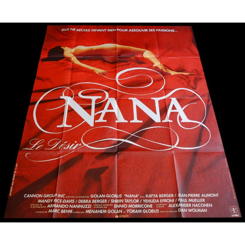 NANA French Movie Poster 47x63 - 1983 - Dan Wolman, Katya Berger