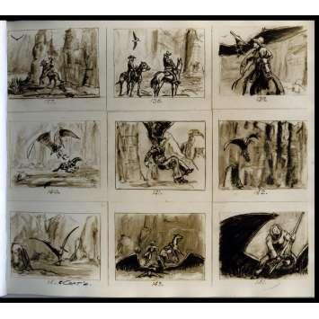 LA VALLEE DE GWANGI Storyboards - 1968 - Willis O'Brien, Ray Harryhausen