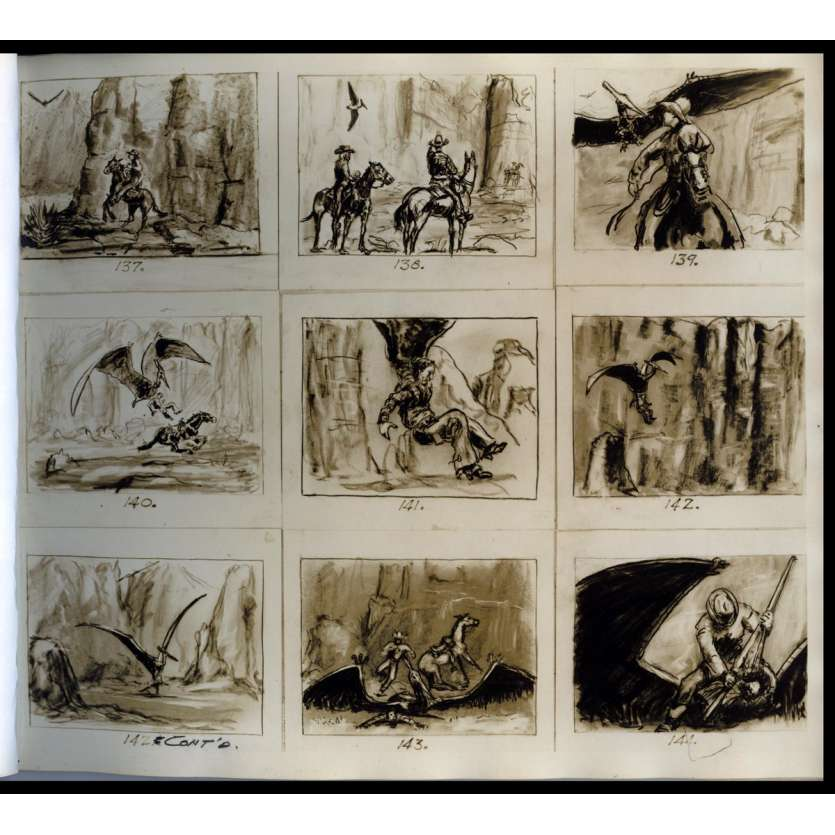 GWANGI Storyboards - 1968 - Willis O'Brien, Ray Harryhausen