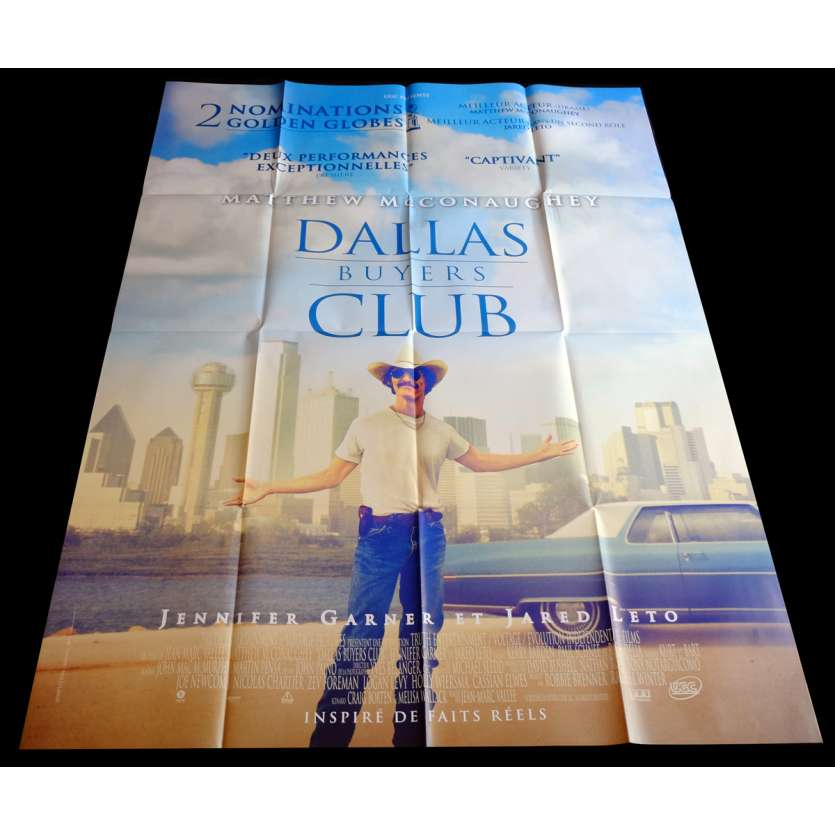 DALLAS BUYER CLUB French Movie Poster 47x63 - 2013 - Jean-Marc Vallée, Matthew McConaughey