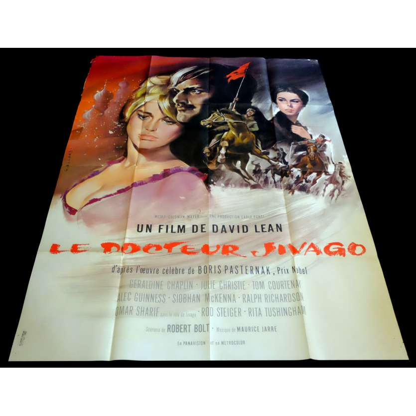 DR ZHIVAGHO French Movie Poster 47x63 - 1965 - David Lean, Omar Sharif