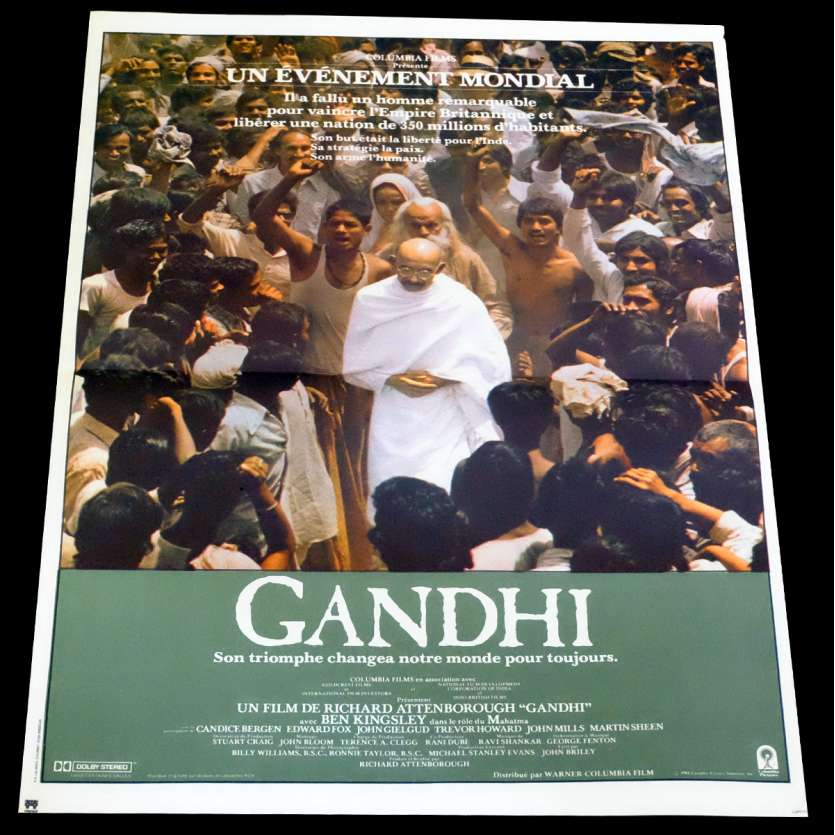 GANDHI Affiche de film 40x60 - 1982 - Ben Kingsley, Richard Attenborough