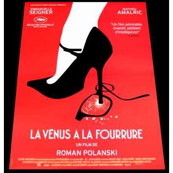 LE VENUS A LA FOURRURE Affiche de film 40x60 - 2013 - Emmanuelle Seigner, Roman Polanski