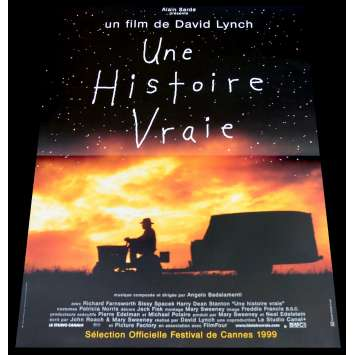 A TRUE STORY French Movie Poster 15x21 - 1999 - David Lynch, Richard Farnsworth