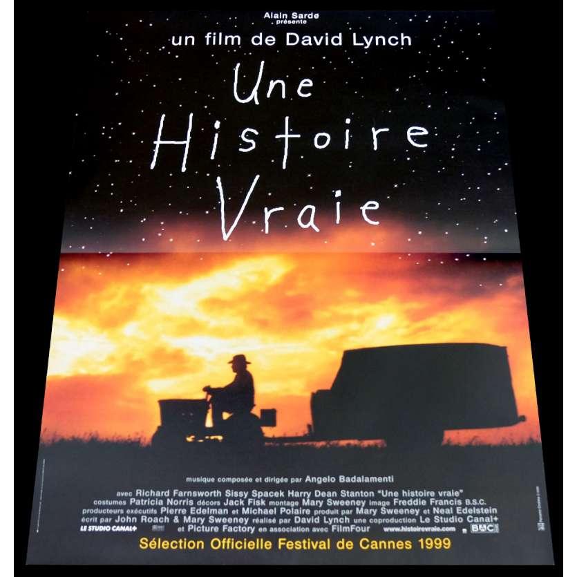 A TRUE STORY French Movie Poster 15x21 - 1999 - David Lynch, Richard Farnsworth