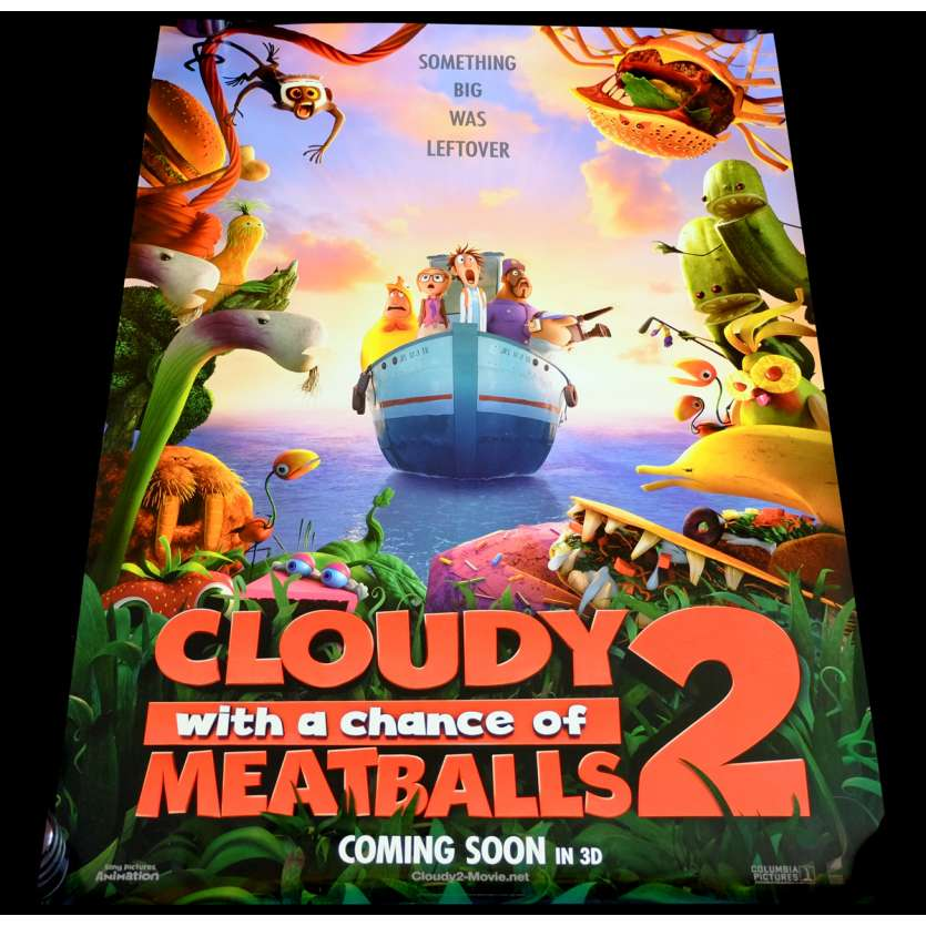 CLOUDY WITH A CHANCE OF MEATBALLS US Movie Poster 29x41 - 2013 - Cody Cameron, Anna Faris