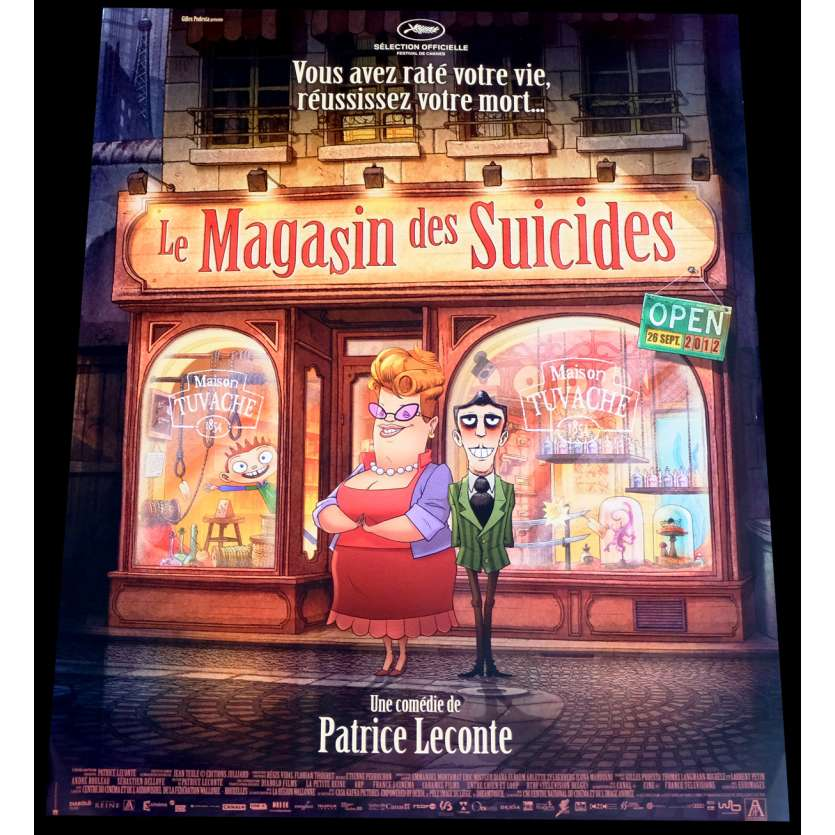 LE MAGASIN DES SUICIDES French Movie Poster 15x21 - 2012 - Patrice Leconte, Bernard Alane