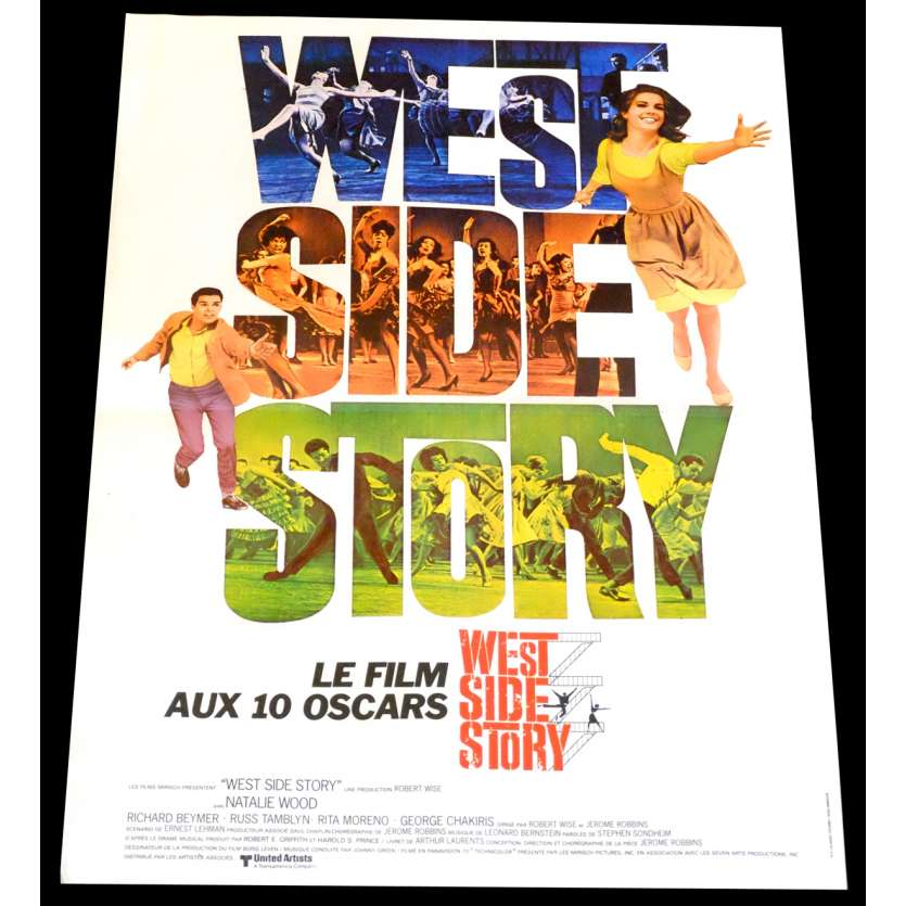 WEST SIDE STORY Affiche de film 40x60 - R1970 - Natalie Wood, Robert Wise