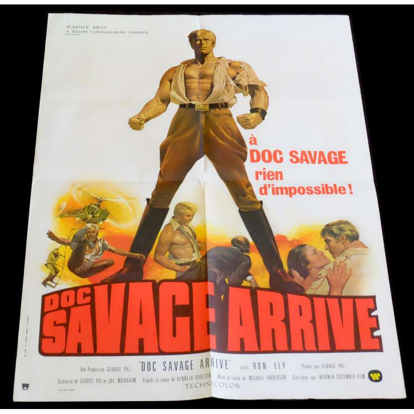 DOC SAVAGE French Movie Poster 23x32 - 1975 - Michael Anderson, Michael Berryman