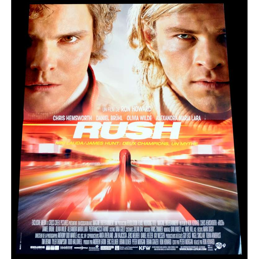 RUSH French Movie Poster 15x21 - 2014 - Ron Howard, Chris Hemsworth