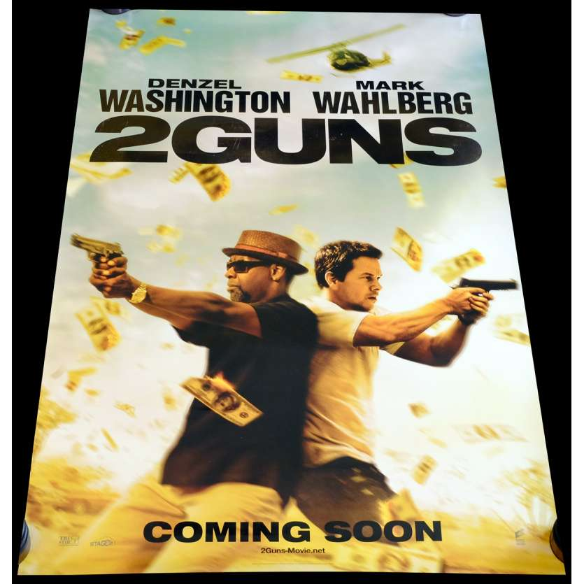 TWO GUNS US Movie Poster 29x41 - 2013 - Baltasar Kormákur, Mark Wahlberg