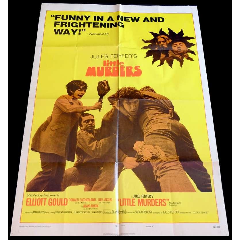 PETITS MEUTRES SANS IMPORTANCE Affiche de film 69x104 - 1970 - Elliot Gould, Jules Deiffer
