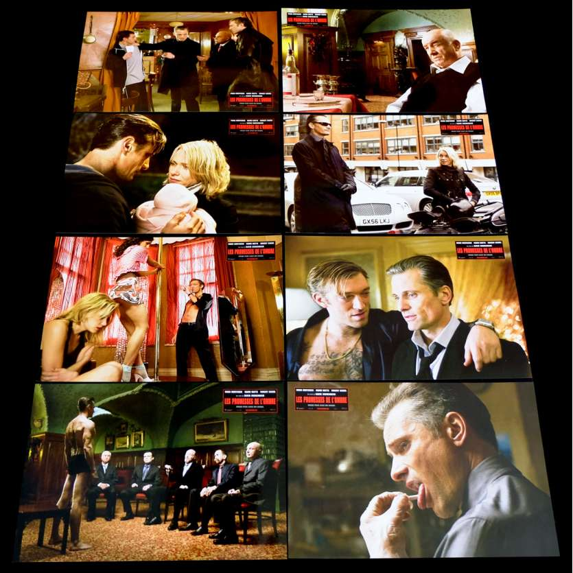 EASTERN PROMISES French Lobby Cards Set X8 9x12 - 2007 - David Cronenberg, Viggo Mortensen