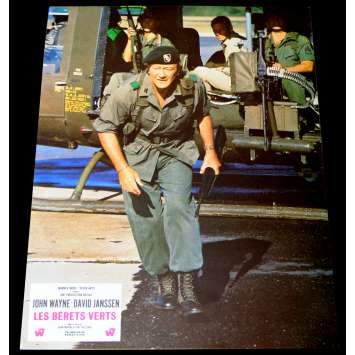 GREEN BERETS French Lobby Card 9x12 - 1968 - Ray Kellogg, John Wayne