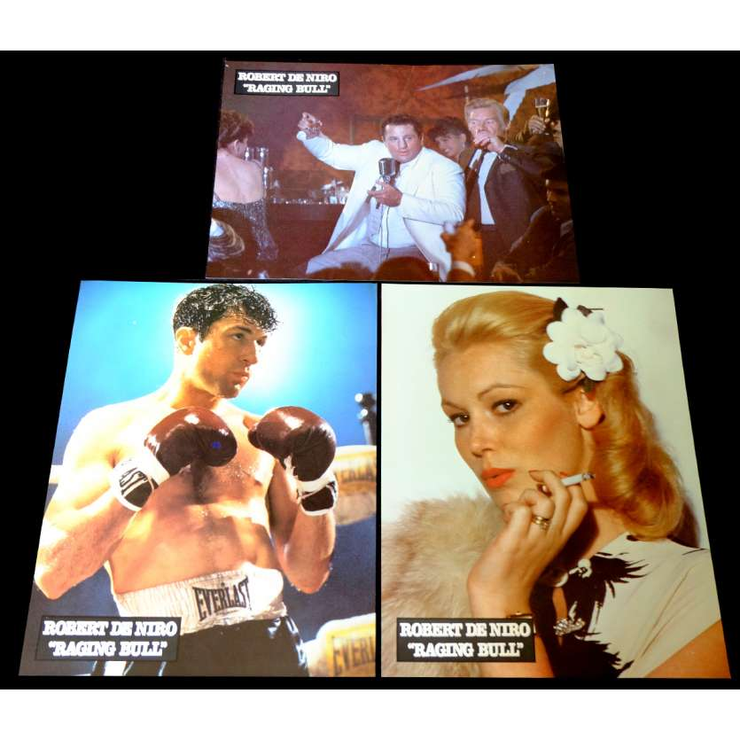 RAGING BULL French Lobby Cards Set x3 9x12 - 1980 - Martin Scorcese, Robert de Niro