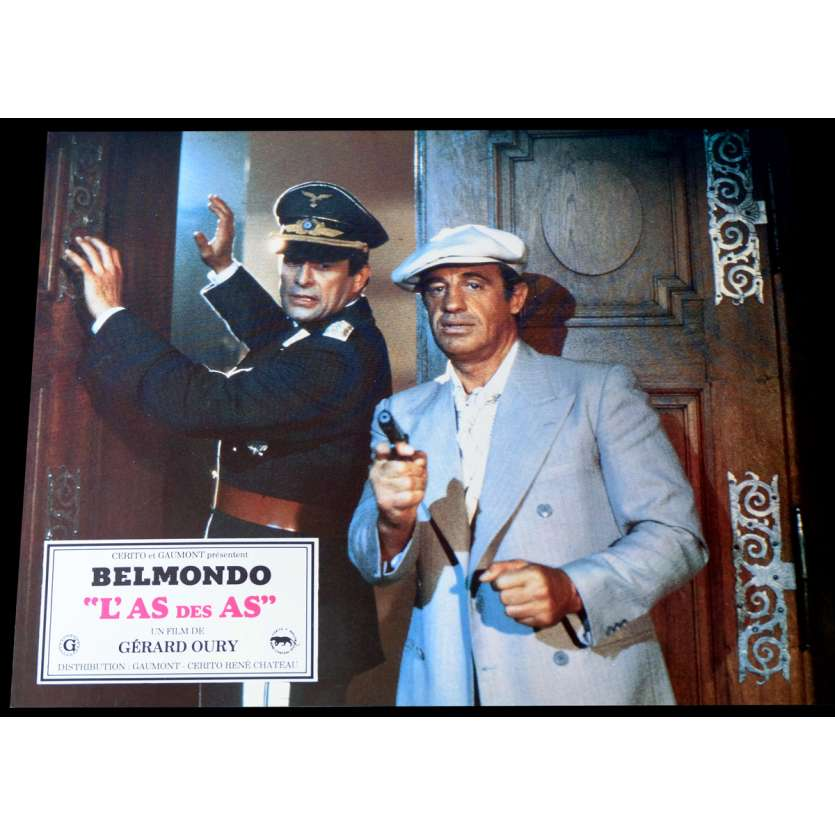 ACE OF ACES French Lobby Card 2 9x12 - 1982 - Gérard Oury, Jean-Paul Belmondo