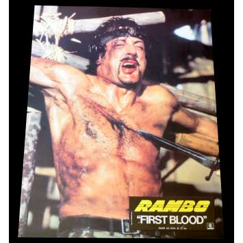 FIRST BLOOD French Lobby Card 2 9x12 - 1983 - Ted Kotcheff, Sylvester Stallone