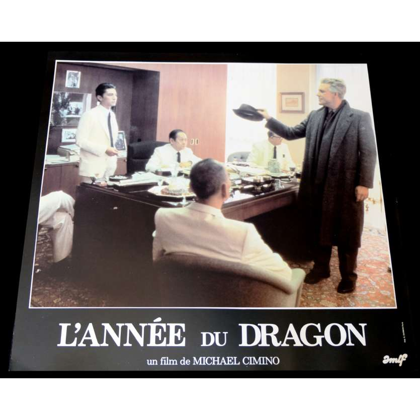 YEAR OF THE DRAGON French Lobby Card 7 12x15 - 1985 - Michael Cimino, Mickey Rourke