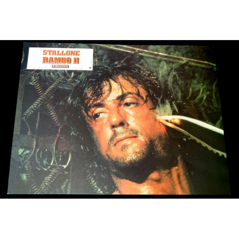 RAMBO FIRST BLOOD 2 French Lobby Card 1 9x12 - 1985 - George Pan Cosmatos, Sylvester Stallone