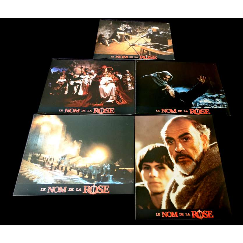 NAME OF THE ROSE French Lobby Cards Set x5 9x12 - 1986 - Jean-Jacques Annaud, Sean Connery