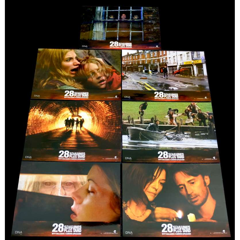 28 WEEKS LATER French Lobby Cards Set X7 9x12 - 2007 - Juan Carlos Fresnadillo, Robert Carlyle