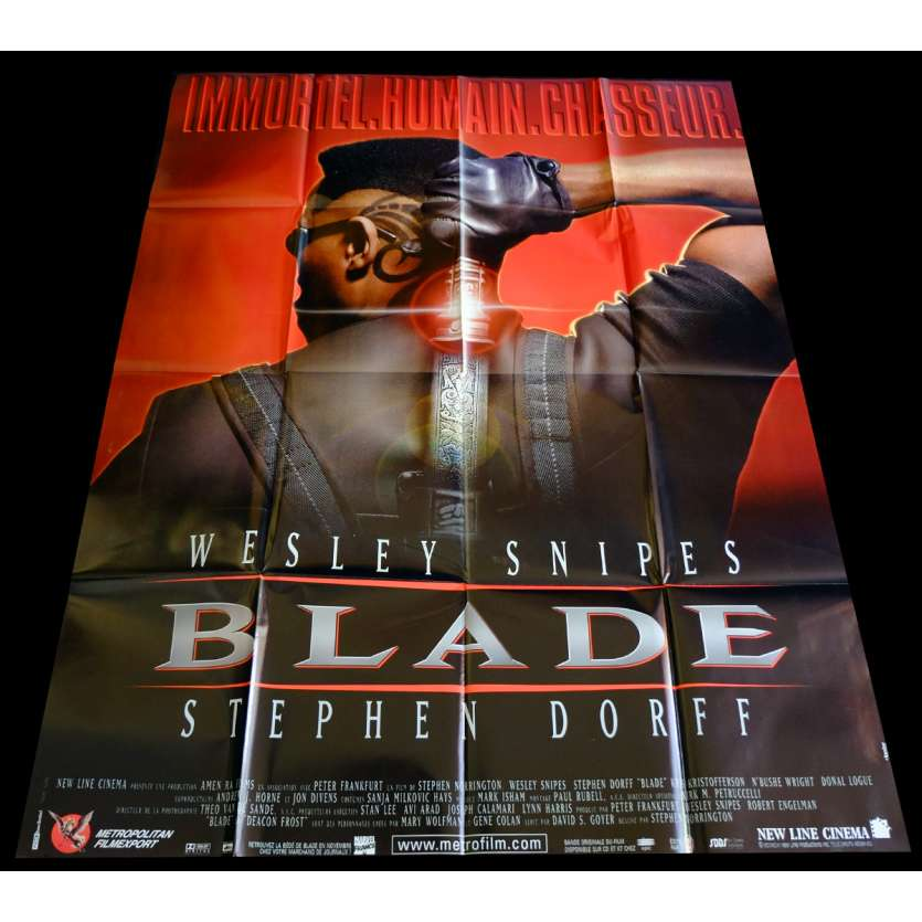 BLADE French Movie Poster 1 47x63 - 1998 - Stephen Norrington, Wesley Snipes