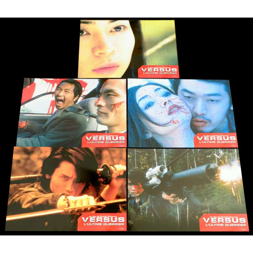 VERSUS French Lobby Cards Set X5 9x12 - 2000 - Ryuhei Kitamura, Hideo Sakaki