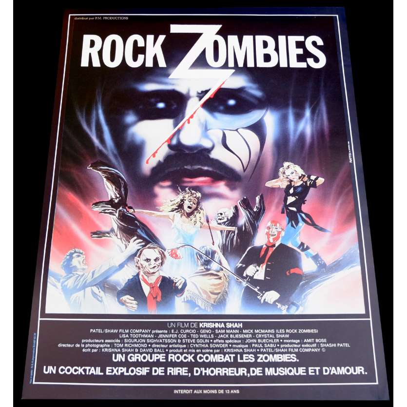 ROCK ZOMBIE French Movie Poster 15x21 - 1984 - Krishna Shah, E.J. Curcio