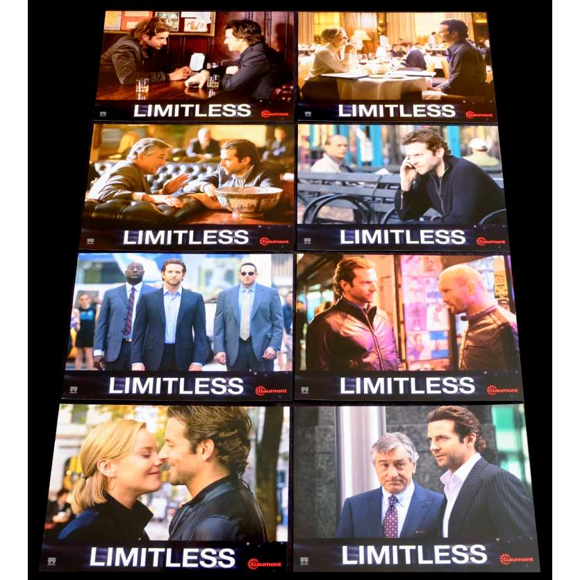 LIMITLESS French Lobby Card Set 1 9x12 - 2011 - Neil Burger, Bradley Cooper